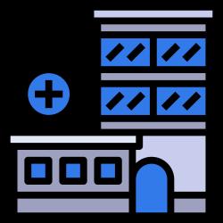 clinic, state, empire, hospital, urban, building icon icon