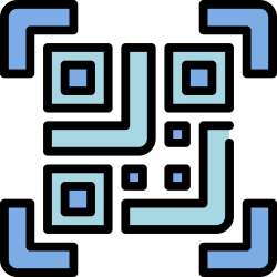 code, mobile, smartphone, application, ui, user interface, qr icon icon