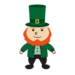 color, doodle, fairytale, green, patrick, day, man icon icon