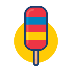 colorful, dessert food, ice cream, popsicle icon icon