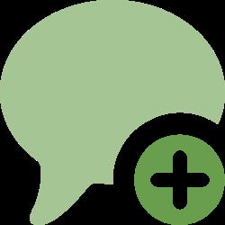 comment, plus, talk, add, chat, message, bubble icon icon