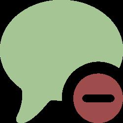 comment, talk, chat, message, bubble, remove, delete icon icon