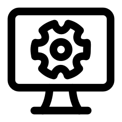 config, configuration, computer, hardware, computers, screen, and icon icon