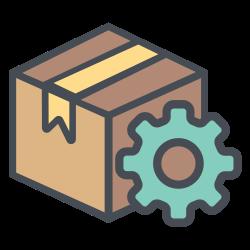 configuration, truck, transportation, shipping, setting, box, logistic icon icon