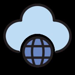 connection, cloud, database, website, storage, internet, web icon icon