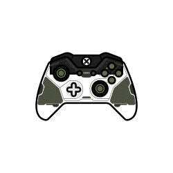 controller, xbox one, green, gamer, master chief, halo icon icon