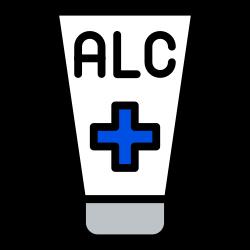 corona, coronavirus, sanitizer, alcohol, tube, hygiene, disinfectant icon icon
