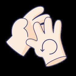 coronavirus, gesture, hand, clean, virus, instruction, wash icon icon