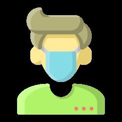 coronavirus, medical, avatar, facial, covid19, mask icon icon