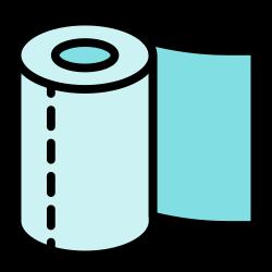 coronavirus, paper, roll, clean, tissue paper, hygiene, tissue icon icon