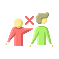 coronavirus, people, contact, avoid, physical, distancing, covid19 icon icon