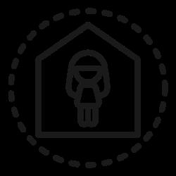 coronavirus, safe, quarantine, home, protection, stay, covid icon icon
