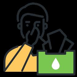 coronavirus, tissue, sneeze, respiratory hygiene icon icon