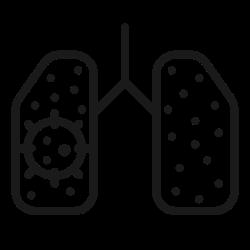 coronavirus, virus, disease, infect, lung, covid, corona icon icon