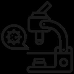 coronavirus, virus, lab, laboratory, microscope, corona, bacteria icon icon