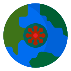 coronavirus, world, virus, covid19, global icon icon
