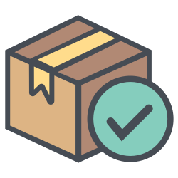 correct, boxperspectiveright, shipping, right, transportation, truck, logistic icon icon
