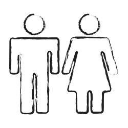 couple, washroom sign, gender, user group, male, group, female icon icon
