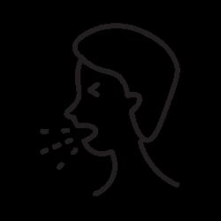 covid, coronavirus, cough icon icon