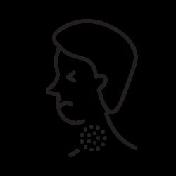 covid, coronavirus, sore icon icon