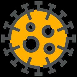 covid, disease, coronavirus, corona, covid-19, bacteria, virus icon icon