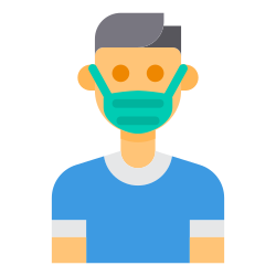 covid, healthcare, mask, coronavirus, avatar, virus icon icon