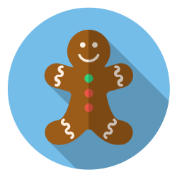 cute, winter, christmas, smile, gingerbread, holiday, xmas icon icon