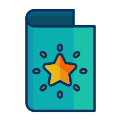 decorate, star, greeting, card, christmas icon icon