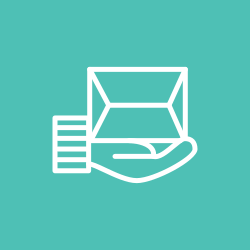 delivery, hand, transport, package icon icon