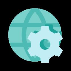 development, web, setting, world icon icon