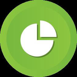 diagram, infographic, circular, pie, chart icon icon