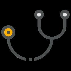 doctor, coronavirus, medical, stethoscope, hospital, care, health icon icon