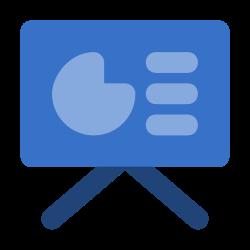 document, presentation, infographic, data icon icon