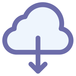 download, technology, computing, cloud icon icon