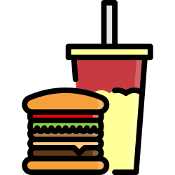 drink, fastfood, fast, burger, soft, food, hamburger icon icon