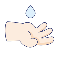 drop, coronavirus, gesture, water, hand, fingers, wash icon icon
