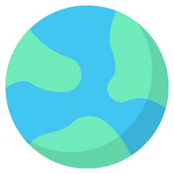 earth, galaxy, space, science, astronomy, world, planet icon icon