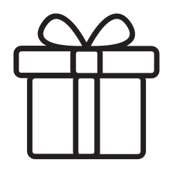 ecommerce, line, outline, gift, shopping icon icon