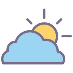 element, cloud, weather, forecast, climate, cloudy, sunny icon icon