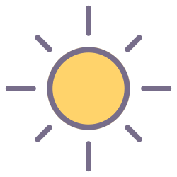 element, weather, forecast, climate, sun, summer, sunny icon icon