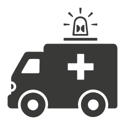 emergency, ambulance, medical, hospital, treatment icon icon