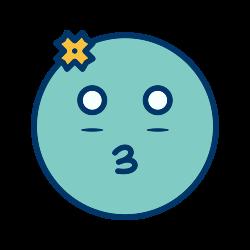 emoticon, girl, smiley icon icon