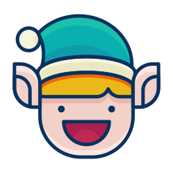 emoticon, smiley, elf, smile, emoji, happy icon icon