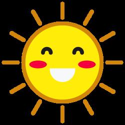 emoticon, sun, smiley, weather, smile, happy icon icon