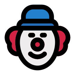 entertainment, circus, character, clown, face, party icon icon