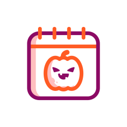 event, scary, schedule, halloween, calendar, date icon icon