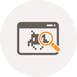 exploring, search, spaceinvader, bugs, find, magnifier, bug icon icon