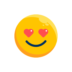 expression, emotion, face, emoticon, emoji, fall in love icon icon