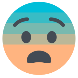 face, fearful icon icon