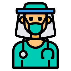 face, shield, virus, doctor, mask icon icon